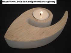 Tea Light holder, handmade out of pinewood, modern & minimalist design by me.