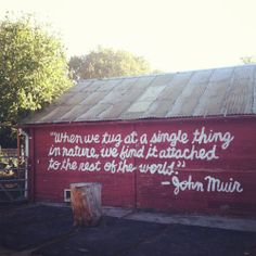 John Muir quote for garage