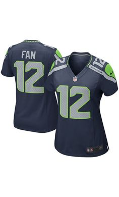 NFL Women s Seattle Seahawks Fan 12 College Navy Alternate  Game Jersey.   football Seahawks c7e05a3d3