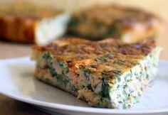 Mincir avec thermomix - Spécial régime DUKAN : Quiche sans pâte au saumon - DUKAN
