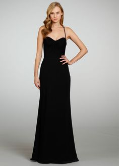 Straps Curved Neckline A-line Bridesmaid Dress with Racer Back