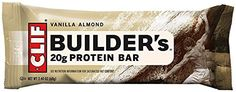 CLIF BUILDER'S - Protein Bar - Vanilla Almond - (2.4 oz, 12 Count) *** You can find more details by visiting the image link.