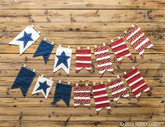 Create a patriotic banner to kick off your holiday weekend!