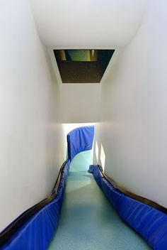 A slide in the house!!!! Oh my the boys would have love this!
