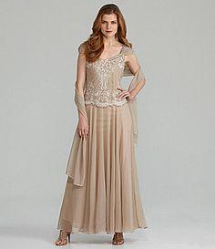 Jkara CapSleeve Embellished Gown #Dillards ITEM #03439135 -- hmmmm
