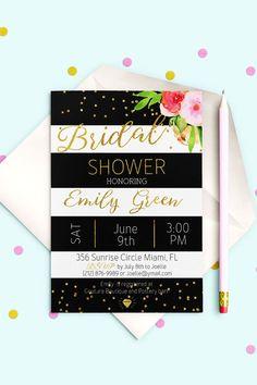 Bridal Shower Invitation Bridal Brunch Bridal Shower by AlniPrints  #Bachelorette #Bridal #Shower #Invitation #brunch #idea #invite #Lingerie #party #dinner