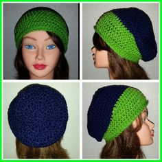 Seattle seahawks colored slouchy hat