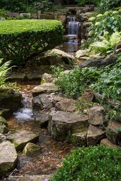 35 Easy DIY Backyard Landscaping On A Budget - Onechitecture Large Backyard Landscaping, Backyard Garden Landscape, Ponds Backyard, Landscaping With Rocks, Backyard Waterfalls, Backyard Ideas, Landscaping Ideas, Waterfall Landscaping, Pond Ideas