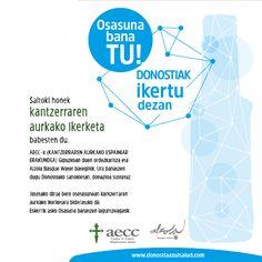 """Nueva Campaña contra el cancer de Alzola Basque Water y aecc Gipuzkoa """"DONOSTIA AZUL SALUD""""  Toda la info, pinchando en la imagen."""