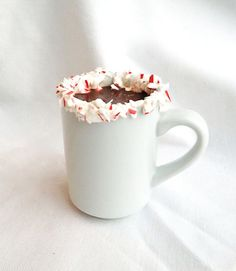 Pro hot cocoa tip: Spread marshmallow fluff on the rim of a mug and then dip the mug in crushed candy canes. Pour instant hot chocolate mix into the prepared mug, add water as directed and stir in 1/4 teaspoon peppermint extract. Click for more ways to jazz up your hot cocoa this winter.