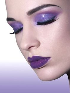 Art purple makeup purple