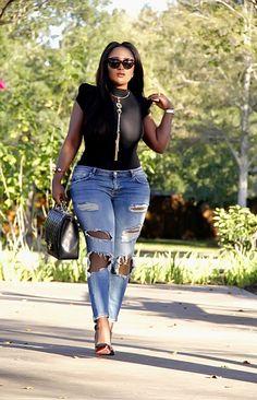Toun 'AJ': Something Casual | BGKI | Black Girl Magic | ripped denim | damaged jeans | woc fashion blogger | fashionista | fashion blogger | fashion blog |