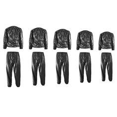 Unisex PVC Sweat Sauna Suit Cloth Lose Weight Slimming Fitness at Banggood
