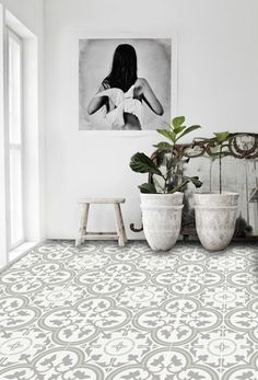 Vinyl Floor Tile Sticker  Floor decals  Carreaux by QUADROSTYLE