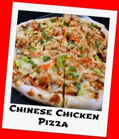 Chinese Chicken Pizza with Senza Glutine Gluten Free Pizza Crust