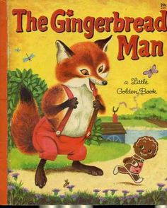 """The Gingerbread Man"" Little Golden Book. Recycled Book Journal. Just $14. All Golden Books include the entire text included with the finished journal. Also? Bonus!!! I will, upon request, make a video of me reading ANY golden book to you and post said video to YouTube. Just make a note in checkout page. Here's a link to the Golden Book section of our website: http://bookjournals.com/journals/little-golden-books Or, you know, just click on this image. Love, Jacob"