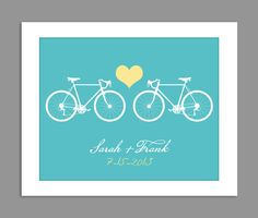 Digital Download Personalized Wedding Gift  Bike by dotsonthewall, $8.00