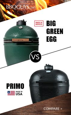 Compare the popular Big Green Egg to Primo Ceramic Grills. Two great grills w/ clear differences - learn before you buy! Big Green Egg Outdoor Kitchen, Big Green Egg Grill, Outdoor Kitchen Design, Big Refrigerator, Outdoor Refrigerator, Modular Outdoor Kitchens, Best Gas Grills, Ceramic Grill, Bbq Catering