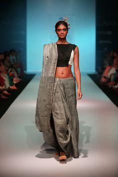 dragonfly detail hand woven linen sari