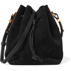Sophie Hulme Nelson small suede bucket bag ($575) ❤ liked on Polyvore featuring bags, handbags, shoulder bags, lightweight purses, shoulder strap bags, crossbody bucket bag, shoulder strap handbags and bucket handbag
