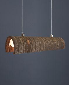 Rustic Lighting, Interior Lighting, Lighting Design, Cardboard Furniture, Cardboard Crafts, Ceiling Design, Lamp Design, Karton Design, Luminaria Diy