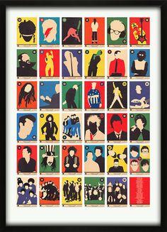 My Vinyl Music Bands A-to-Z Print Alphabet 67 Inc.com
