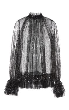 Embellished Tulle Top by Dice Kayek