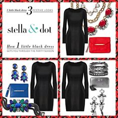 how to accessorize your little black dress! www.stelladot.com/wendywise