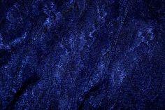 3958-5 Kant gebloemd donker kobalt