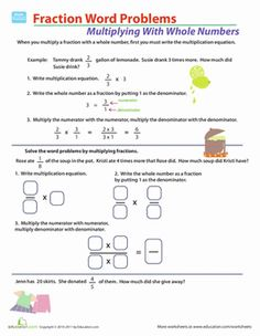 math worksheet : dividing whole numbers by fractions word problems worksheet  : Division Of Fractions Word Problems Worksheet