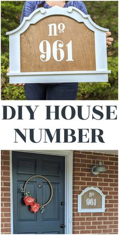 This DIY house number sign is super easy to make using a cute frame and a piece of plywood. It's an easy, inexpensive way to increase your home's curb appeal. This DIY house number sign will add some major style to your home and can be made in just an afternoon. Come get the simple step-by-step tutorial.