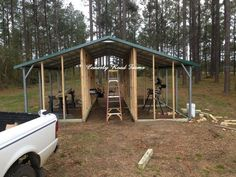 Carport coops 2 sided, one end connected to barn with inside access. One side for chickens, One side for rabbits Pet Chickens, Chickens Backyard, Urban Chickens, Backyard Poultry, Backyard Farming, Raising Chickens, Rabbits, Backyard Ideas, Coop Plans