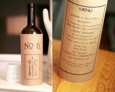 Wine Bottle Table Numbers (by Golden Silhouette)
