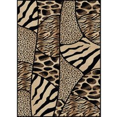 Virginia Animal Print Area Rug (5'5 x 7'7) | Overstock.com Shopping - Great Deals on RADICI USA 5x8 - 6x9 Rugs