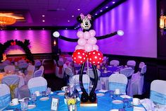 Minnie Mouse  #Centerpiece  One of the most popular #balloon centerpieces.  As you can see, this is a very nice combination of a balloon sculpture and balloon centerpiece.  The main attraction is that it can be perfectly coordinated with big ones!  See other pictures in the #Mickey Mouse Theme.  Burlington VT                         Kids Party