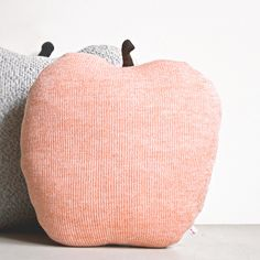 Apple shaped cushion/soft toy - medium size color peach