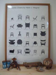 Modern Chairs 北欧HansWegner25の椅子限定ポスターリサラーソンFinel インテリア 雑貨 家具 ¥6099yen 〆05月17日