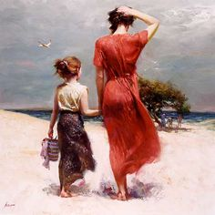 "Pino Daeni, ""Afternoon Stroll"""