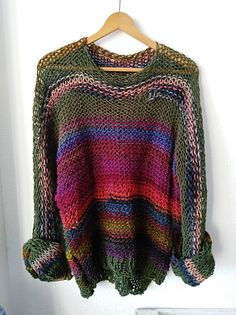 Women's Casual Round Neck Long Sleeve Plus Size Solid Paneled Sweater Outerwear Chunky Knitwear, Plus Size Outerwear, Cotton Crafts, Poncho, Pullover, Knit Fashion, Vintage Shirts, Boho Outfits, Knit Patterns