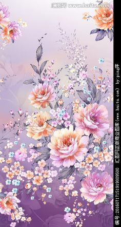 花卉图案有图层