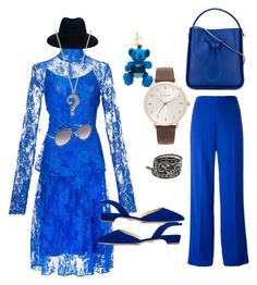 """""""Blue festival...."""" by jamuna-kaalla ❤ liked on Polyvore featuring Tome, Maison Margiela, Paul Andrew, 3.1 Phillip Lim, Maison Michel, Burberry, Dolce&Gabbana, Nixon, Chan Luu and Marc Jacobs"""