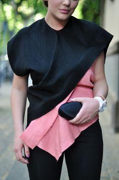 pink & black Marni asymmetric top #style #fashion