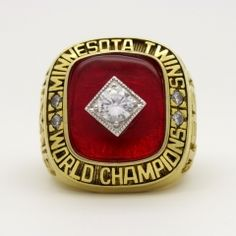 Real Handmade Gold plated Philadelphia 1983 NBA Finals National Basketball World Championship Ring with red ruby, sparkling clear cubic zirconia. It is a special noble gift to your NBA fans friends and families. For Philadelphia fans, this Nba Championship Rings, World Championship, Basketball Season, Nba Basketball, San Francisco Basketball, World Series Rings, Ring Of Honor, Minnesota Twins, Mlb
