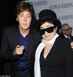 Paul McCartney and Yoko Ono attended the premiere of the new Martin Scorcese's documentary about George Harrison. The pair seemingly put their differences aside as they graciously posed for pictures together without fuss, and didn't look too bitter about having to do it. Time heals all wounds and after 40 years, maybe its time to put the past behind them. 5 Oct. 2011