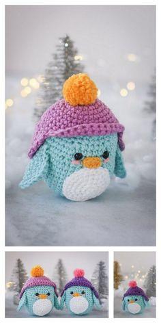 Crochet Penguin, Crochet Animals, Kawaii Crochet, Cute Crochet, Crochet Amigurumi Free Patterns, Crochet Dolls, Cute Penguins, Amigurumi Doll, Yarn Crafts