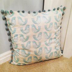 Pom Pom cushion.  See this Instagram photo by @taylorandmorris • 5 likes