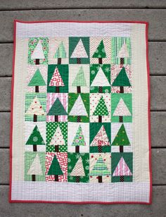 Patchwork Forest Tree Quilt Tutorial