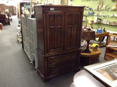 Thomasville Armoire - Thomasville armoir.  Solid wood and top quality construction. It will last a lifetime.  We have the entire set available. Ladies dresser with mirror , two night tables and the headboard.  Item 880-1.  Price $460.00   - http://takeitorleaveit.co/2015/06/30/thomasville-armoire/