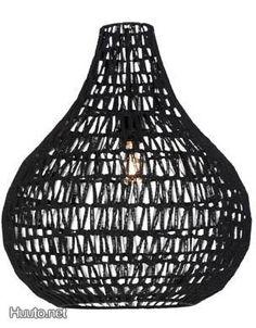 Musta Cotton-kattovalaisin / Black Cotton lamp