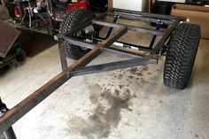 How-to build a Jeep Trailer Step 1a:   For off-road usage, we go with a welded frame